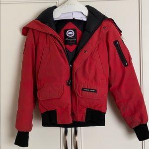 Canada Goose Kids bomber jacket red